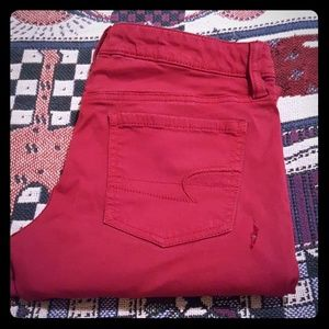 🌺AMERICAN EAGLE SIZE 4 RED JEGGINGS🌺